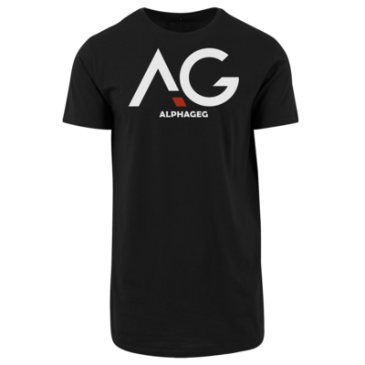 Motiv: Shaped Long Tee - AG Basic Merch Logo