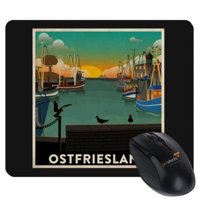 Motiv: Mousepad Textil - Heimathafen