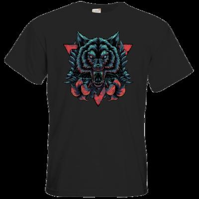 Motiv: T-Shirt Premium FAIR WEAR - Lone Wolf