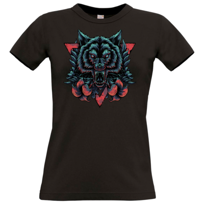 Motiv: T-Shirt Damen Premium FAIR WEAR - Lone Wolf
