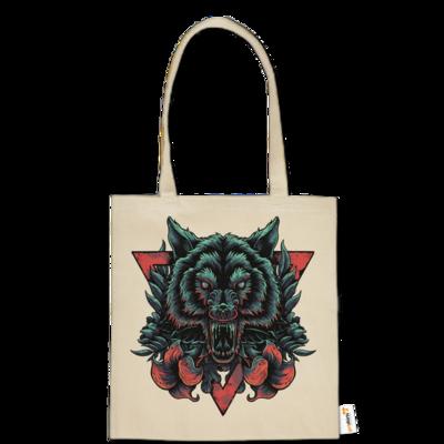 Motiv: Baumwolltasche - Lone Wolf