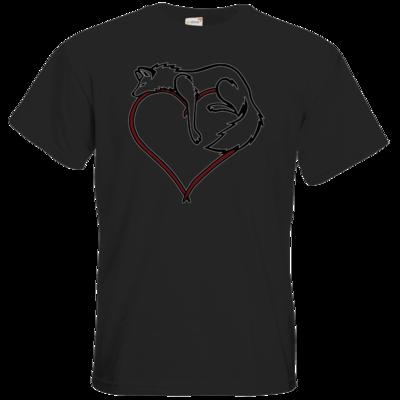 Motiv: T-Shirt Premium FAIR WEAR - wolfsherz