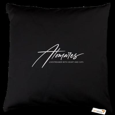 Motiv: Kissen Baumwolle - Atomares Font Logo