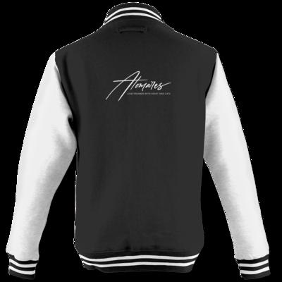 Motiv: College Jacke - Atomares Font Logo