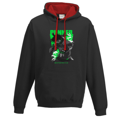 Motiv: Two-Tone Hoodie - BunkterTeam - Runner