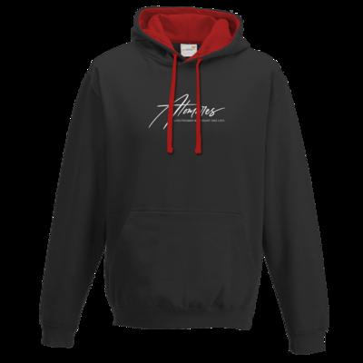 Motiv: Two-Tone Hoodie - Atomares Font Logo