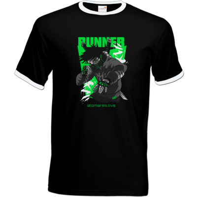 Motiv: T-Shirt Ringer - BunkterTeam - Runner