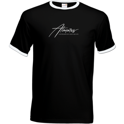 Motiv: T-Shirt Ringer - Atomares Font Logo