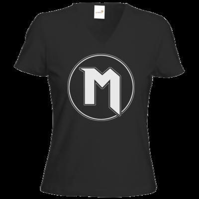 Motiv: T-Shirts Damen V-Neck FAIR WEAR - M Logo