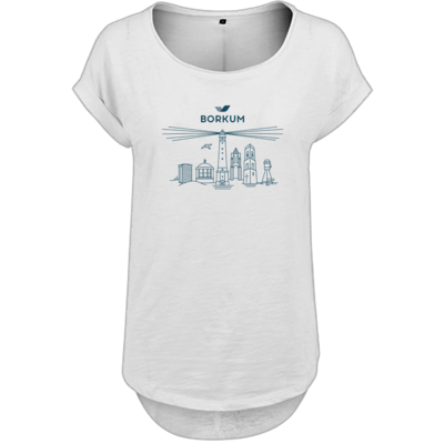 Motiv: Ladies Long Slub Tee - Skyline Borkum