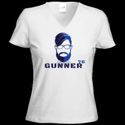 Motiv: T-Shirts Damen V-Neck FAIR WEAR - GUNNER76 Kopf