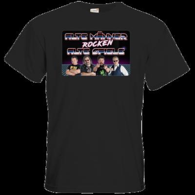 Motiv: T-Shirt Premium FAIR WEAR - Alte Männer rocken alte Spiele