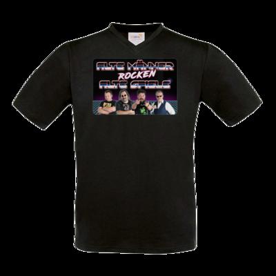 Motiv: T-Shirt V-Neck FAIR WEAR - Alte Männer rocken alte Spiele