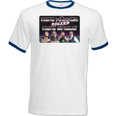 Motiv: T-Shirt Ringer - Alte Männer rocken alte Spiele