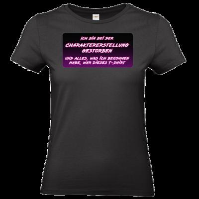 Motiv: T-Shirt Damen Premium FAIR WEAR - Bei Charaktererstellung gestorben