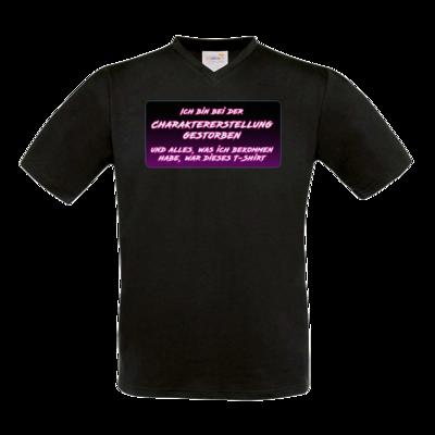 Motiv: T-Shirt V-Neck FAIR WEAR - Bei Charaktererstellung gestorben