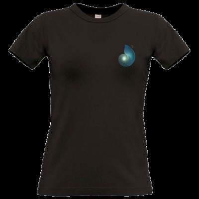 Motiv: T-Shirt Damen Premium FAIR WEAR - Erdenstern Aqua