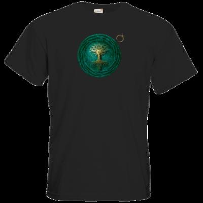 Motiv: T-Shirt Premium FAIR WEAR - Erdenstern  Into The Green