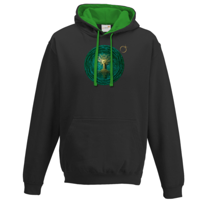 Motiv: Two-Tone Hoodie - Erdenstern  Into The Green
