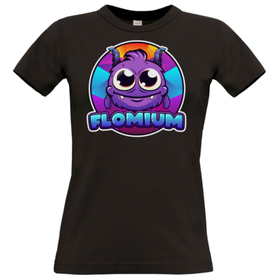 Motiv: T-Shirt Damen Premium FAIR WEAR - FLOMIUM Logo