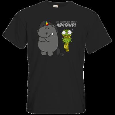 Motiv: T-Shirt Premium FAIR WEAR - Grummeleinhorn - Covidiot