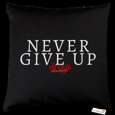 Motiv: Kissen Baumwolle - Never give up