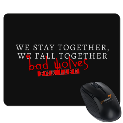 Motiv: Mousepad Textil - bad wolves