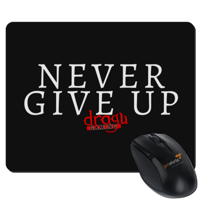 Motiv: Mousepad Textil - Never give up
