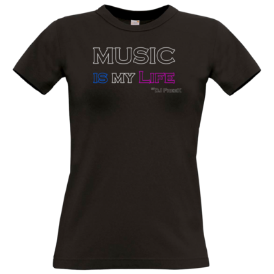 Motiv: T-Shirt Damen Premium FAIR WEAR - Music is my life