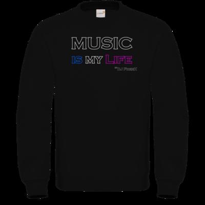 Motiv: Sweatshirt FAIR WEAR - Music is my life