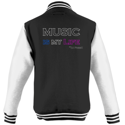 Motiv: College Jacke - Music is my life