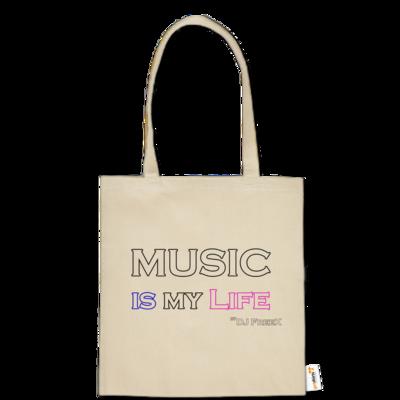 Motiv: Baumwolltasche - Music is my life