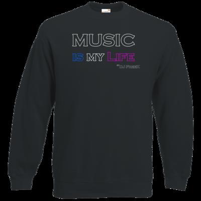 Motiv: Sweatshirt Classic - Music is my life