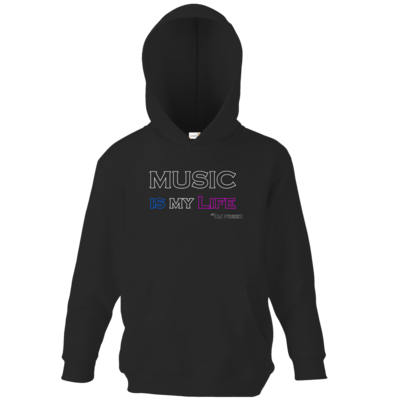 Motiv: Kids Hooded Sweat - Music is my life