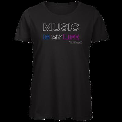 Motiv: Organic Lady T-Shirt - Music is my life