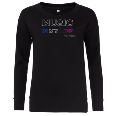 Motiv: Girlie Crew Sweatshirt - Music is my life