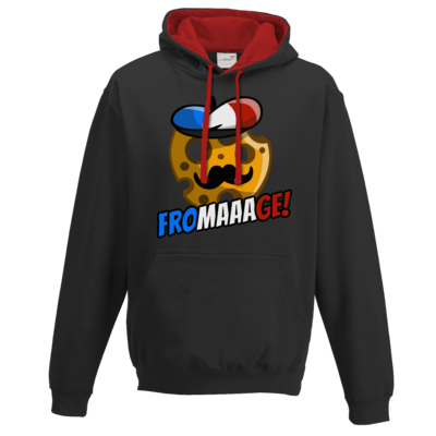 Motiv: Two-Tone Hoodie - Fromaaage