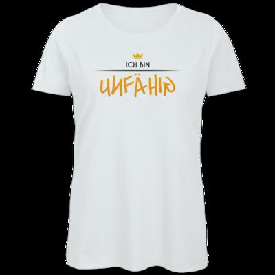 Motiv: Organic Lady T-Shirt - ich bin unfähig