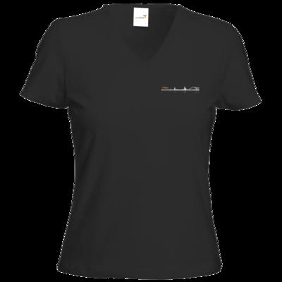 Motiv: T-Shirts Damen V-Neck FAIR WEAR - Coolonia Skyline
