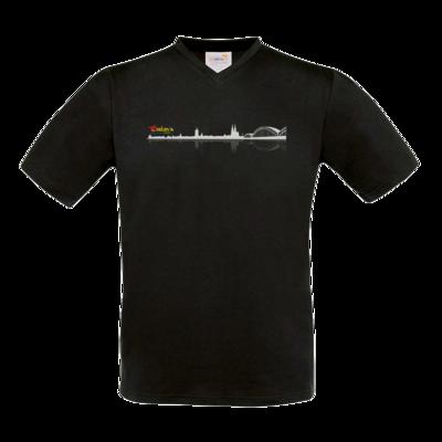 Motiv: T-Shirt V-Neck FAIR WEAR - Coolonia Skyline