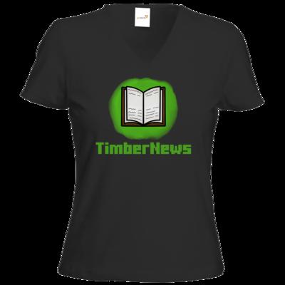Motiv: T-Shirt Damen V-Neck Classic - Fraktion TimberNews