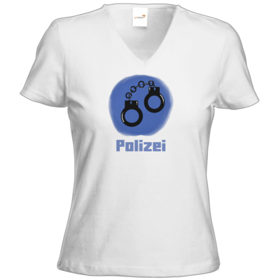 Motiv: T-Shirt Damen V-Neck Classic - Fraktion Polizei