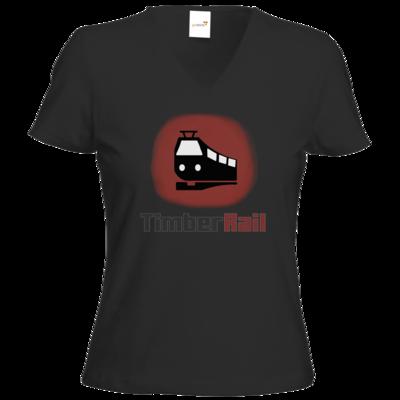 Motiv: T-Shirts Damen V-Neck FAIR WEAR - Fraktion TimberRail