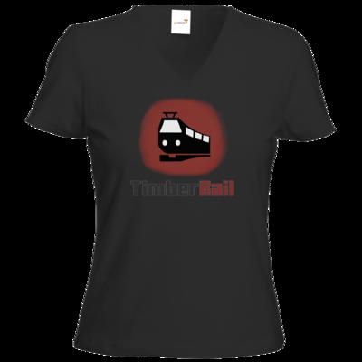 Motiv: T-Shirt Damen V-Neck Classic - Fraktion TimberRail