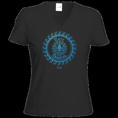 Motiv: T-Shirt Damen V-Neck Classic - HeXXen 1733 - Mare Monstrum