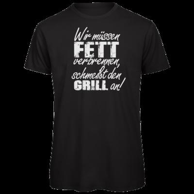 Motiv: Organic T-Shirt - SizzleBrothers - Grillen - Fett verbrennen