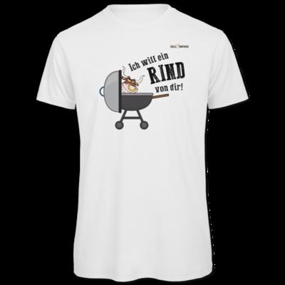 Motiv: Organic T-Shirt - SizzleBrothers - Grillen - Ich will ein Rind