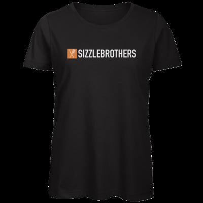 Motiv: Organic Lady T-Shirt - SizzleBrothers Logo