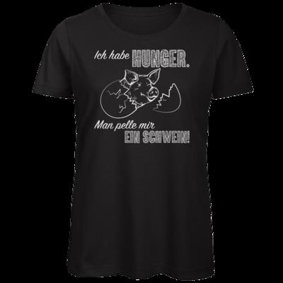 Motiv: Organic Lady T-Shirt - Sizzle Brothers - Grillen - Schwein pellen