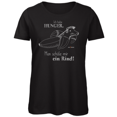 Motiv: Organic Lady T-Shirt - SizzleBrothers - Grillen - Hunger Rind schälen